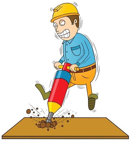 drilling man Stock Vector - 17925290