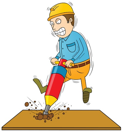 drilling man Stock Vector - 17925290