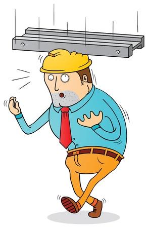 metaal: werken risico Stock Illustratie