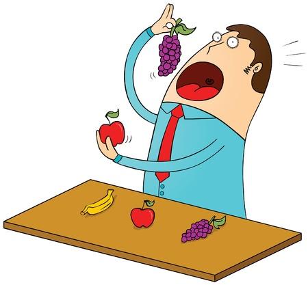 greedy: fruitarian Illustration