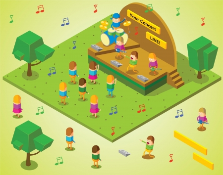 concert stage: isometric concert