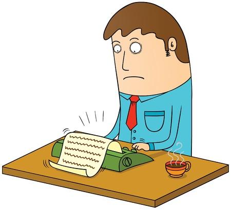 typing machine: manual typing Illustration