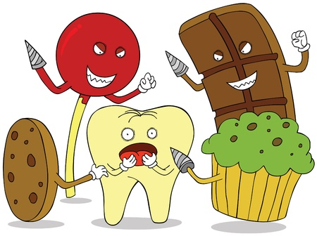 bad teeth: tooth enemies Illustration