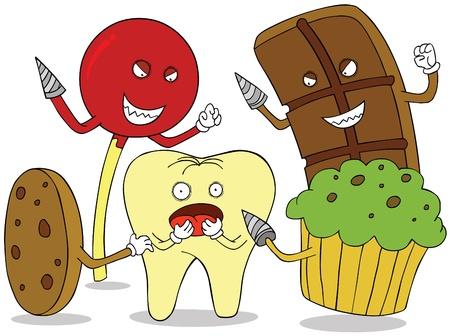 carries: tooth enemies Illustration