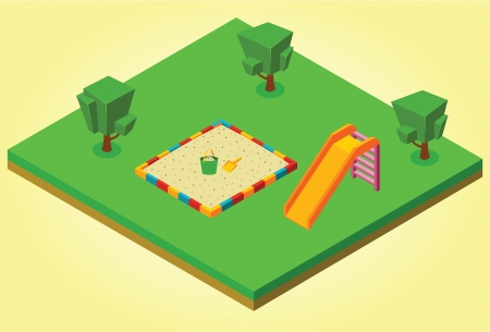 sandbox: isometric sandbox and slides