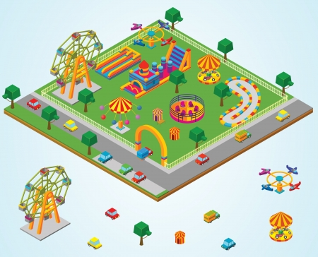 arches: isometric Carnival Illustration