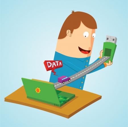 toll: transfering data