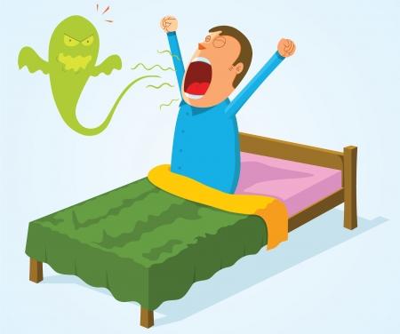 evaporarse: respiraci�n de la ma�ana Vectores