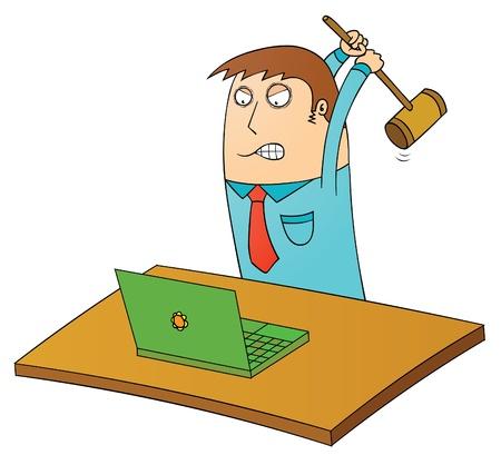 hitting: dal computer di ordine Vettoriali