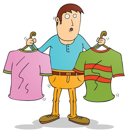 choosing clothes: choosing clothes Illustration