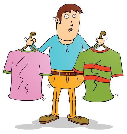 choosing: choosing clothes Illustration