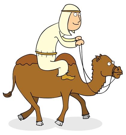 east riding: camel rider Illustration