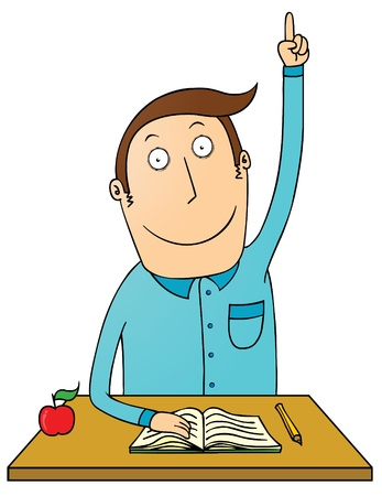 volunteers: raising hand student