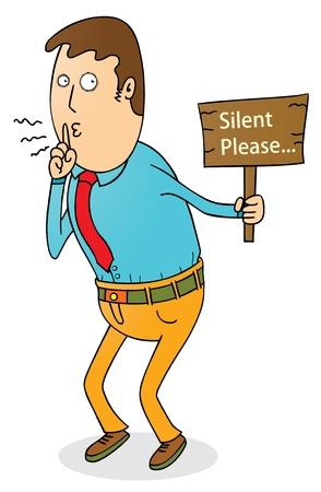 persuading: silent please
