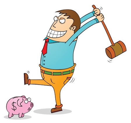 spendthrift: pig bank robbery