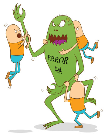 error 404 monster Stock Vector - 22756825