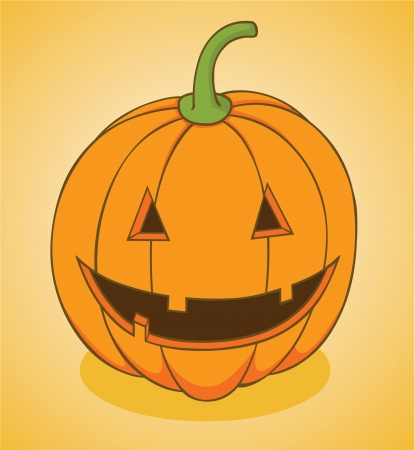 Pumpkin Head Illustration