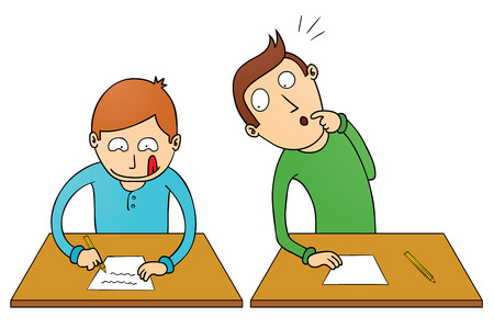 cheating: cheating student