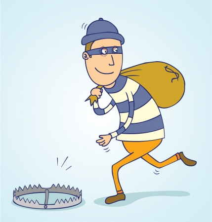 thief trap Vector