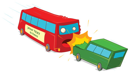 crushing vehicles Vector