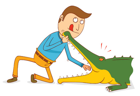 Crocodile Show - Do not try this at home Illustration
