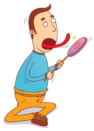 licking: lollipop licker Illustration