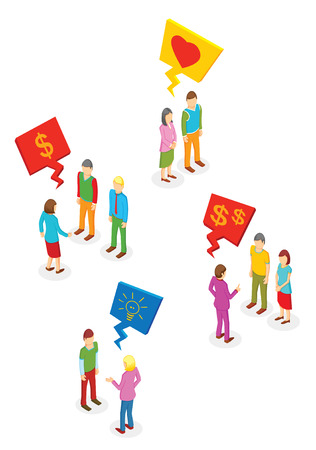 Isometric People collection Vector