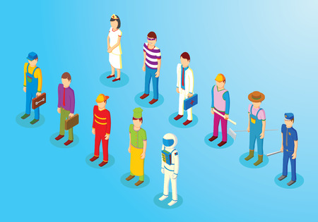 enfermera caricatura: Profesiones isom�tricos primera parte