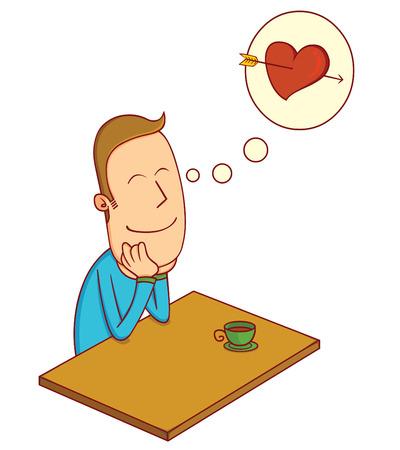 enamorados caricatura: enamorarse niño Vectores