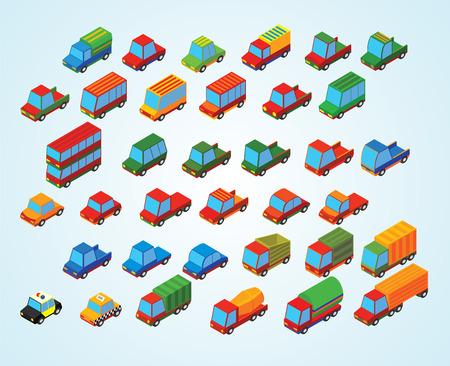 mini bus: isometric premium cars Illustration