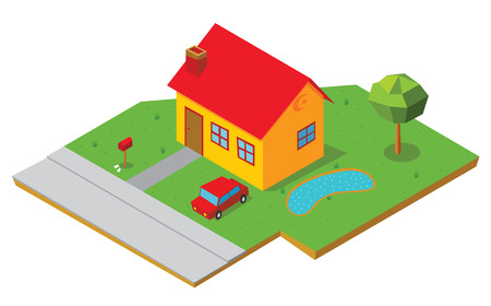 partial: isometric house 1 Illustration