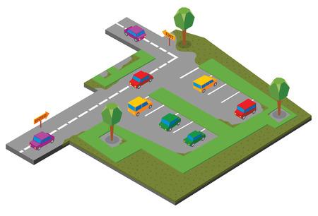 car park: parking area Illustration