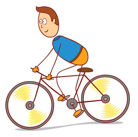 bicycling: bicycling Illustration