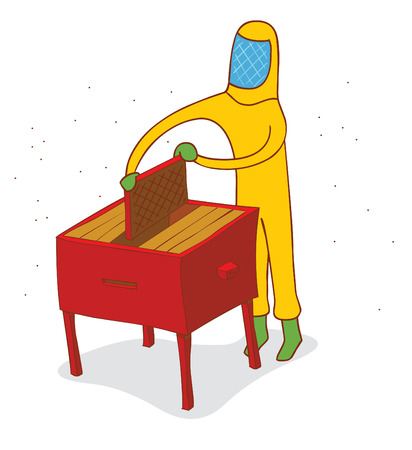 harvest time: honey harvest time Illustration
