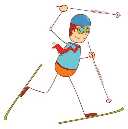 hombre caricatura: patinaje sobre hielo Vectores