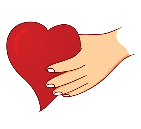 hand heart: hand holding love
