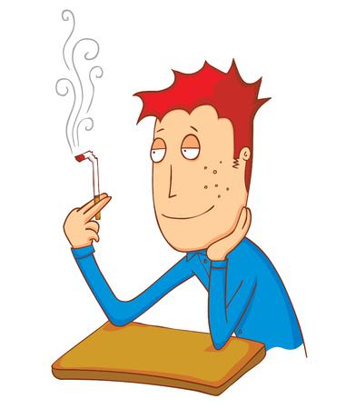 chew: enjoy smoking cigarette