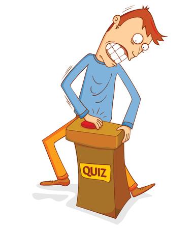 art show: enthusiast quiz participant Illustration