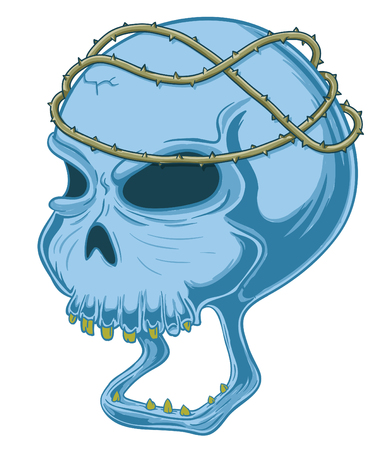 painful truth skull concept vector illustration
