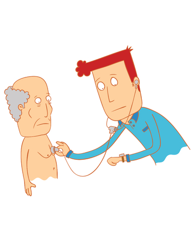 doctor examine his patient-