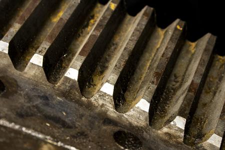 Teeth of old cog-wheel Stok Fotoğraf