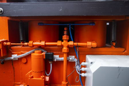 A pipeline of the hydraulic system is high-pressure with the valves of hydrohammer