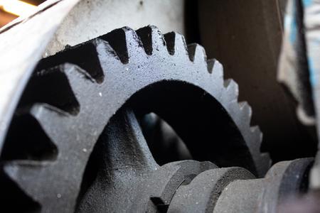 Cog-wheel of old ferruginous ferrous mechanism