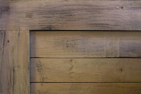 Corner of box made out of wooden boards Reklamní fotografie