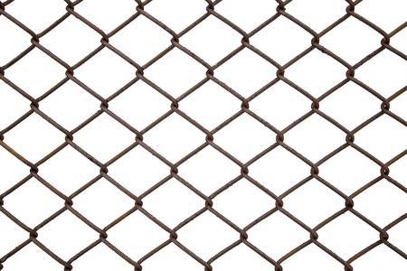 metallic net braiding from a ferrous wire