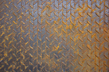 perforated sheet of rusty metal