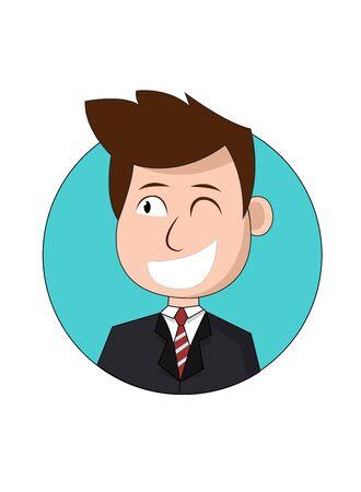 Smiley Businessman Cartoon Character