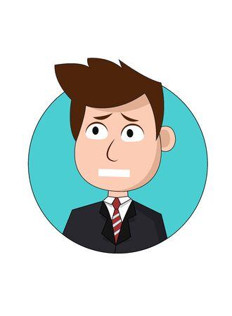 Worried Businessman Cartoon Character