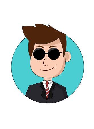 Cool Businessman Cartoon Character