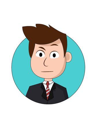 Curious Businessman Cartoon Character